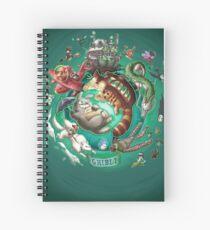 Ghibli Tribute Spiral Notebook