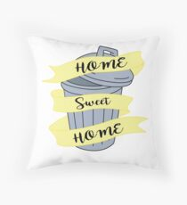 home sweet home trash can  Throw Pillow