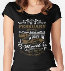I'm a February woman shirt Women's Fitted Scoop T-Shirt