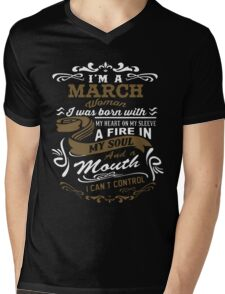 I'm a March woman shirt Mens V-Neck T-Shirt