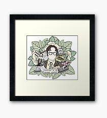 DWIGHT SCHRUTE Framed Print