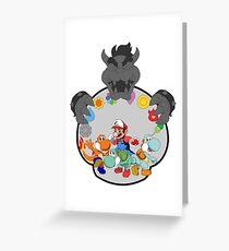 SUPER POKEMON BROS Greeting Card