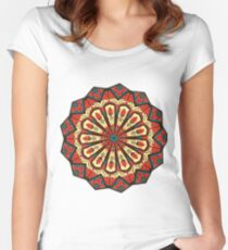 Spanish Mandala Women's Fitted Scoop T-Shirt