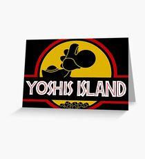 YOSHIS ISLAND Greeting Card