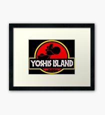 YOSHIS ISLAND V2 Framed Print