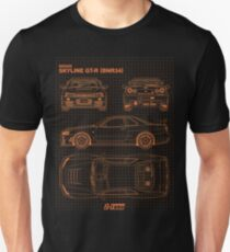 Blueprint - Nissan Skyline GT-R (R34) Z-Tune (Black) Unisex T-Shirt