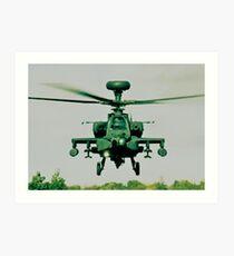 Army Green Apache Art Print
