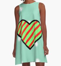 Christmas Ribbon A-Line Dress