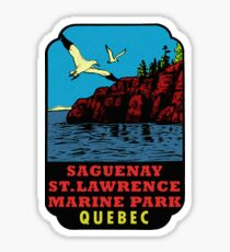 Saguenay - St Lawrence Marine Park Quebec Vintage Travel Decal Sticker