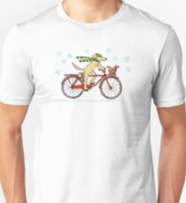 Cycling Dog and Squirrel Holiday T-Shirt