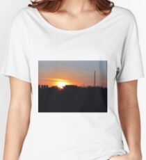 Farmland Sunset Women's Relaxed Fit T-Shirt