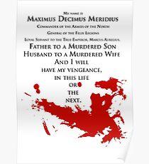 Gladiator - My name is Maximus Decimus Meridius... Poster