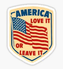 America Love it or Leave it Sticker