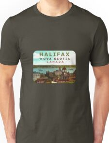 Halifax Nova Scotia Canada Vintage Travel Decal Unisex T-Shirt