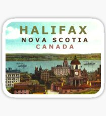 Halifax Nova Scotia Canada Vintage Travel Decal Sticker