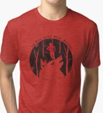 He Who Runs With Wolves Tri-blend T-Shirt