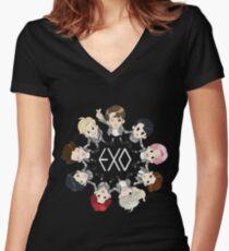 EXO  Women's Fitted V-Neck T-Shirt
