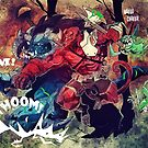 Fanart Mashup - Hellboy versus Bular (Trollhunters) by Simon Sherry