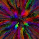 Rainbow Grunge Abstract by Ruth Moratz