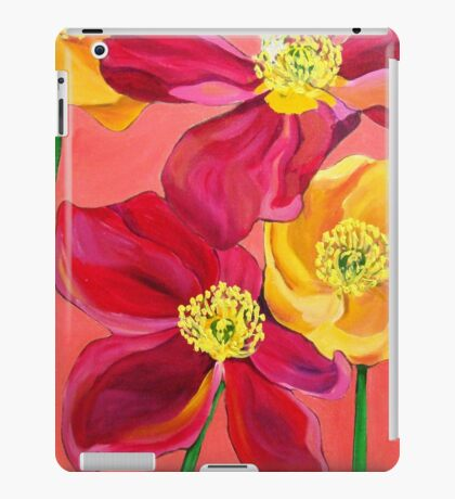 Red & Yellow Poppies iPad Case/Skin