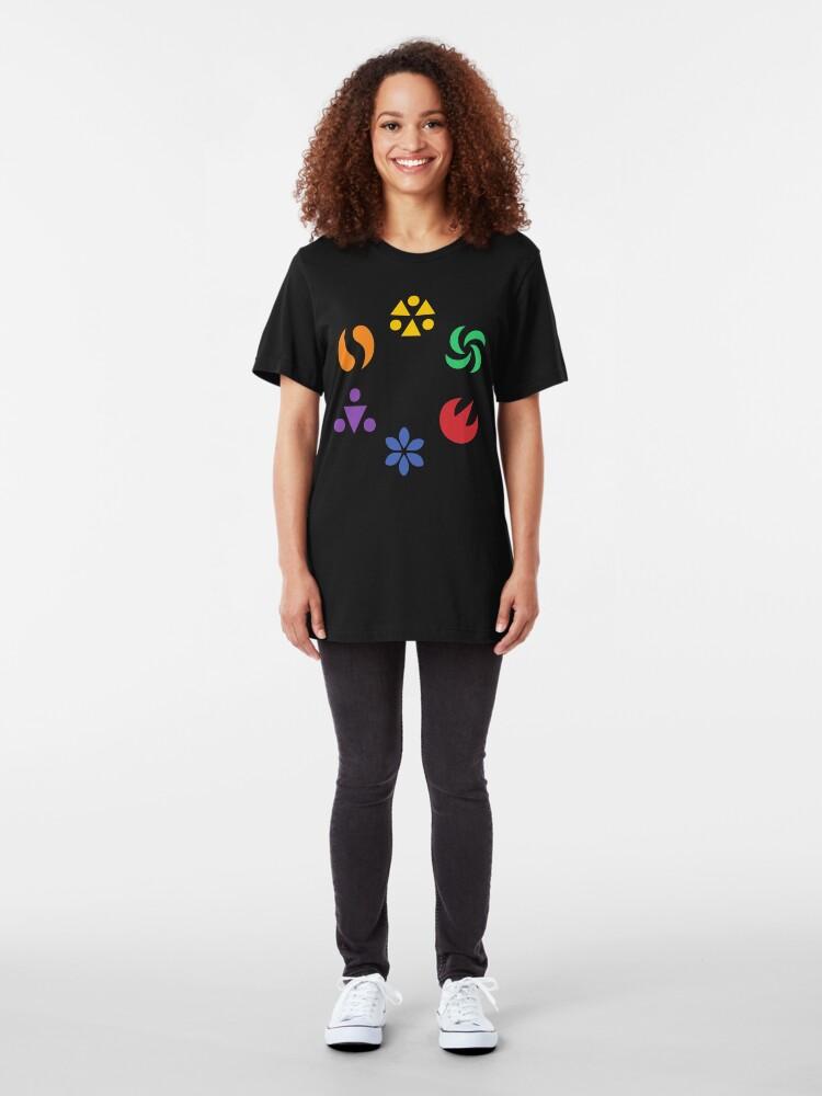 Alternate view of Sage Medallions - OoT Slim Fit T-Shirt