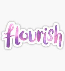 Flourish Watercolor Lettered Word Purple Pink Sticker