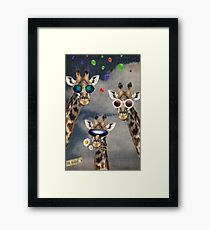 Animal Collection -- Lets Take A Selfie Framed Print