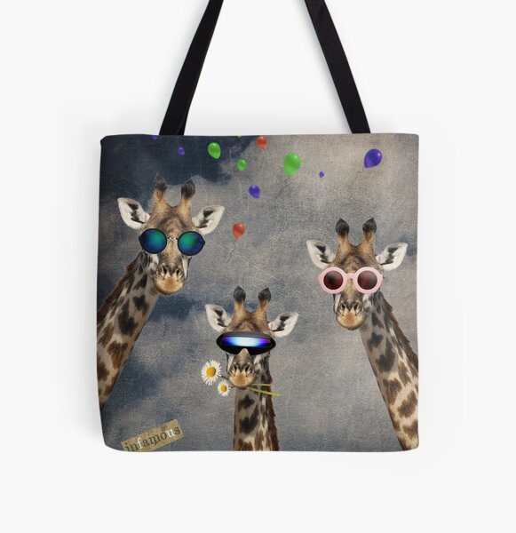 Animal Collection -- Lets Take A Selfie All Over Print Tote Bag