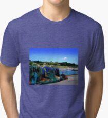 Harbour Life in Lyme Regis Tri-blend T-Shirt