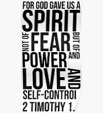 2 Timothy 1:7 Bible Verse Layout Poster