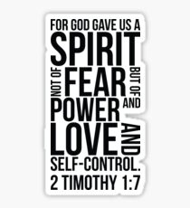 2 Timothy 1:7 Bible Verse Layout Sticker