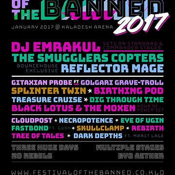 Festival of the Banned 2017 Poster by KrisEgan