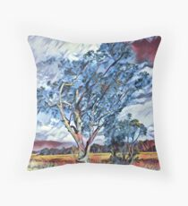 Australian Windswept Tree 02 Throw Pillow