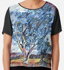 Australian Windswept Tree 02 Chiffon Top