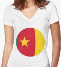 Cameroon Women's Fitted V-Neck T-Shirt