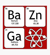 BaZinGa and Atom Photographic Print