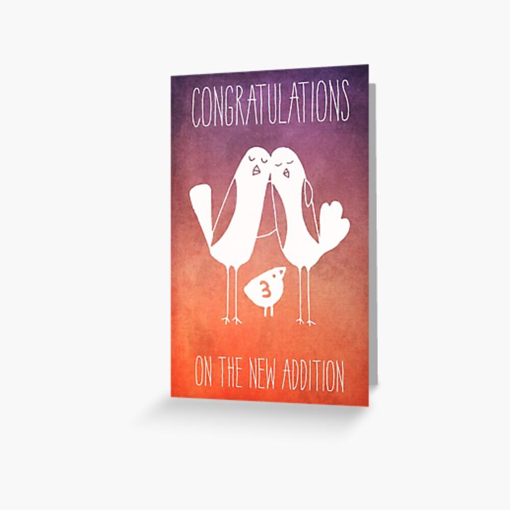 Carte de vœux «Félicitations pour le nouvel ajout»