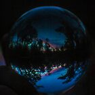 blue glass ball reflection by MadmyrtleDesign