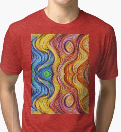Mask #DeepDream #Art Tri-blend T-Shirt