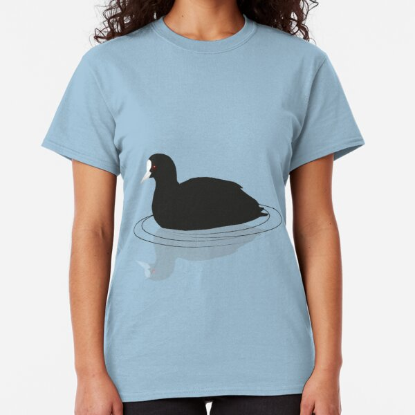Common coot vector Classic T-Shirt