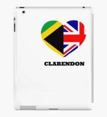 Love Clarendon Jamaican Flag British Union Jack Heart IPad Case Skin
