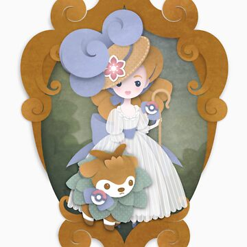 Marie Antoinette and Skiddo by peppertea