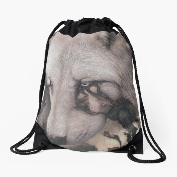 Black vision Drawstring Bag