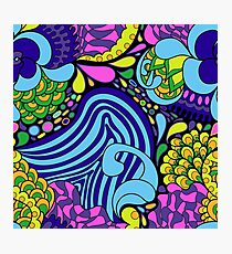 60s hippie abstract print Photographic Print