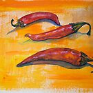 Chilli pepperrs by Yana Art