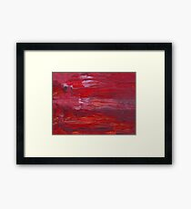 Red oil  unique texture Framed Print