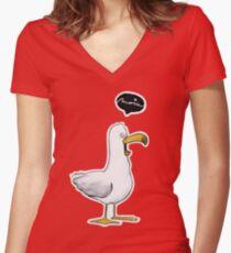Kleine Möwe - Moin!  Katz & Tinte Shirt mit V-Ausschnitt