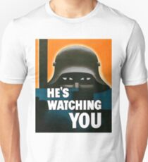"""He's Watching"" WWI British Poster Unisex T-Shirt"