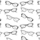 cat eye vintage glasses hand drawn by gmm2000