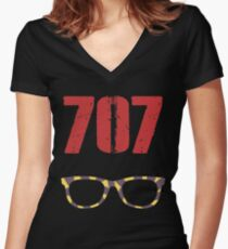 707 , Mystic Messenger Collection Women's Fitted V-Neck T-Shirt